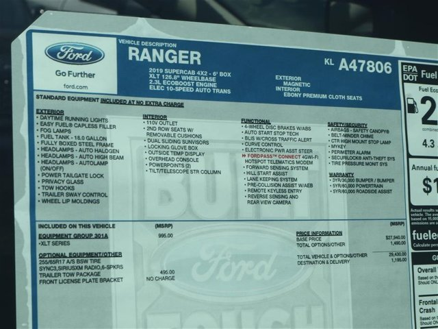 2019 Ranger Super Cab 4x2,  Pickup #9R1E7806 - photo 15