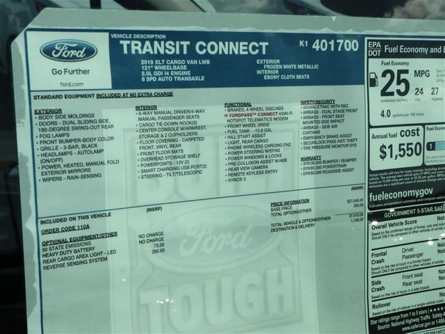 2019 Transit Connect 4x2,  Empty Cargo Van #9S7F1700 - photo 15
