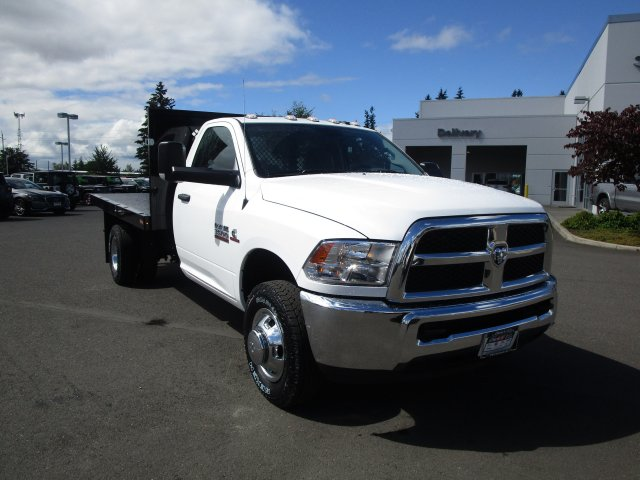 2018 Ram 3500 Regular Cab DRW 4x4,  Harbor Platform Body #087392 - photo 2