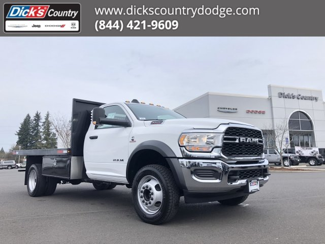 2019 Ram 5500 Regular Cab DRW 4x4, Harbor Black Boss Platform Body #097521 - photo 1