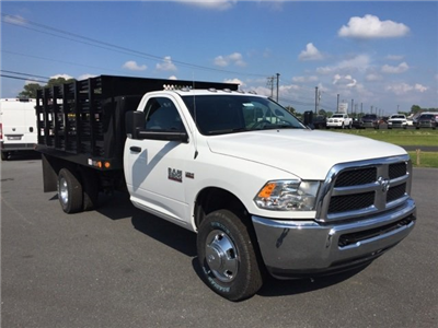 2018 Ram 3500 Regular Cab DRW 4x4,  Stake Bed #J8421 - photo 1