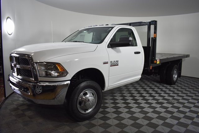 2018 Ram 3500 Regular Cab DRW 4x4,  Monroe Platform Body #M181290 - photo 7