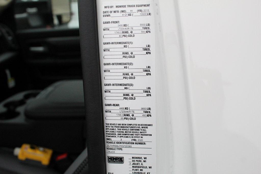 2019 Ram 3500 Regular Cab DRW 4x2, Monroe MTE-Zee Dump Body #M191840 - photo 24
