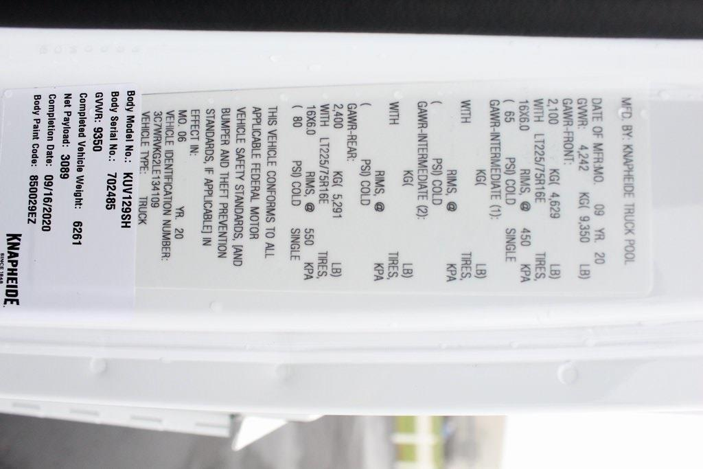 2020 Ram ProMaster 3500 FWD, Knapheide KUV Service Utility Van #M201255 - photo 37