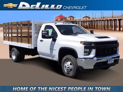 2021 Silverado 3500 Regular Cab 4x2,  Royal Truck Body Stake Bed #210539 - photo 1