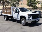 2021 Silverado 3500 Regular Cab 4x2,  Royal Truck Body Stake Bed #210539 - photo 3