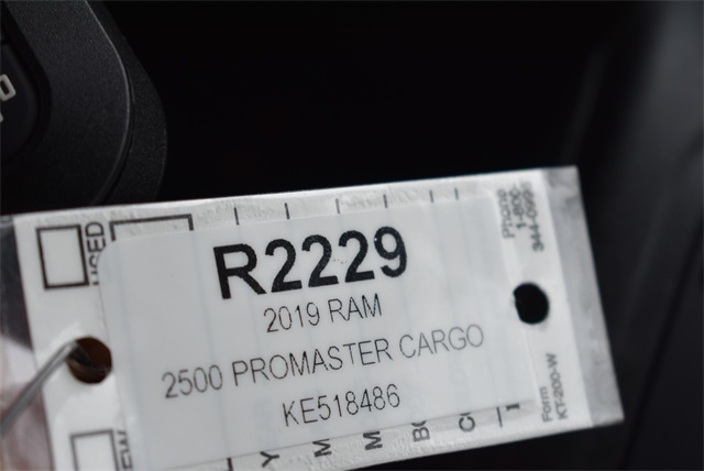 2019 ProMaster 2500 High Roof FWD, Empty Cargo Van #R2229 - photo 28