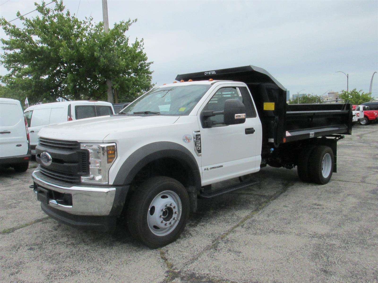 2019 Ford F-550 Regular Cab DRW 4x4, Crysteel Dump Body #4096 - photo 1