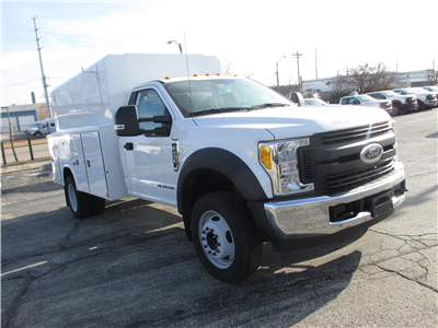 2017 F-450 Regular Cab DRW 4x2,  Reading Panel and Tapered Panel Body Service Utility Van #4745 - photo 11
