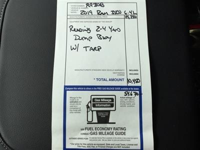2019 Ram 3500 Regular Cab DRW 4x4, Reading Marauder Dump Body #R9308 - photo 18