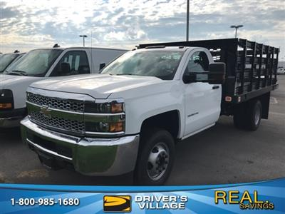 2019 Silverado 3500 Regular Cab DRW 4x2,  Knapheide Value-Master X Stake Bed #B19100075 - photo 1