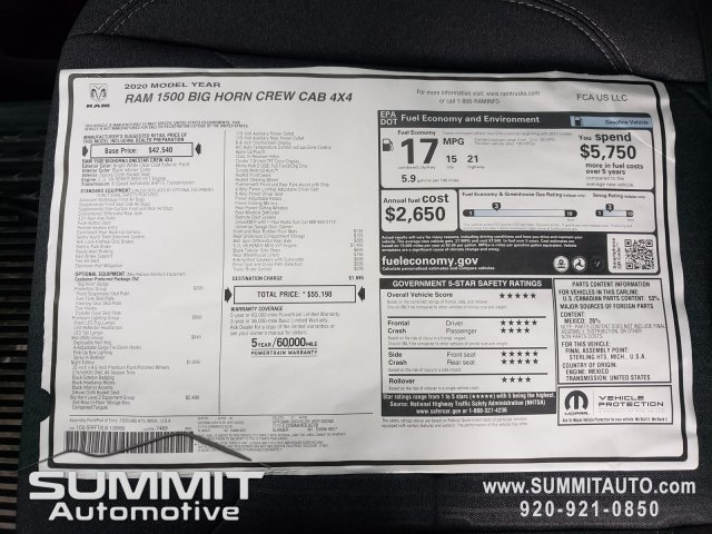 2020 Ram 1500 Crew Cab 4x4,  Pickup #20T23 - photo 27