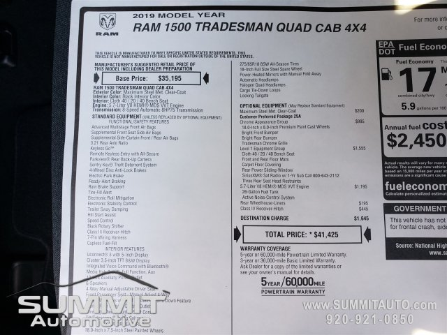 2019 Ram 1500 Quad Cab 4x4,  Pickup #9T53 - photo 20
