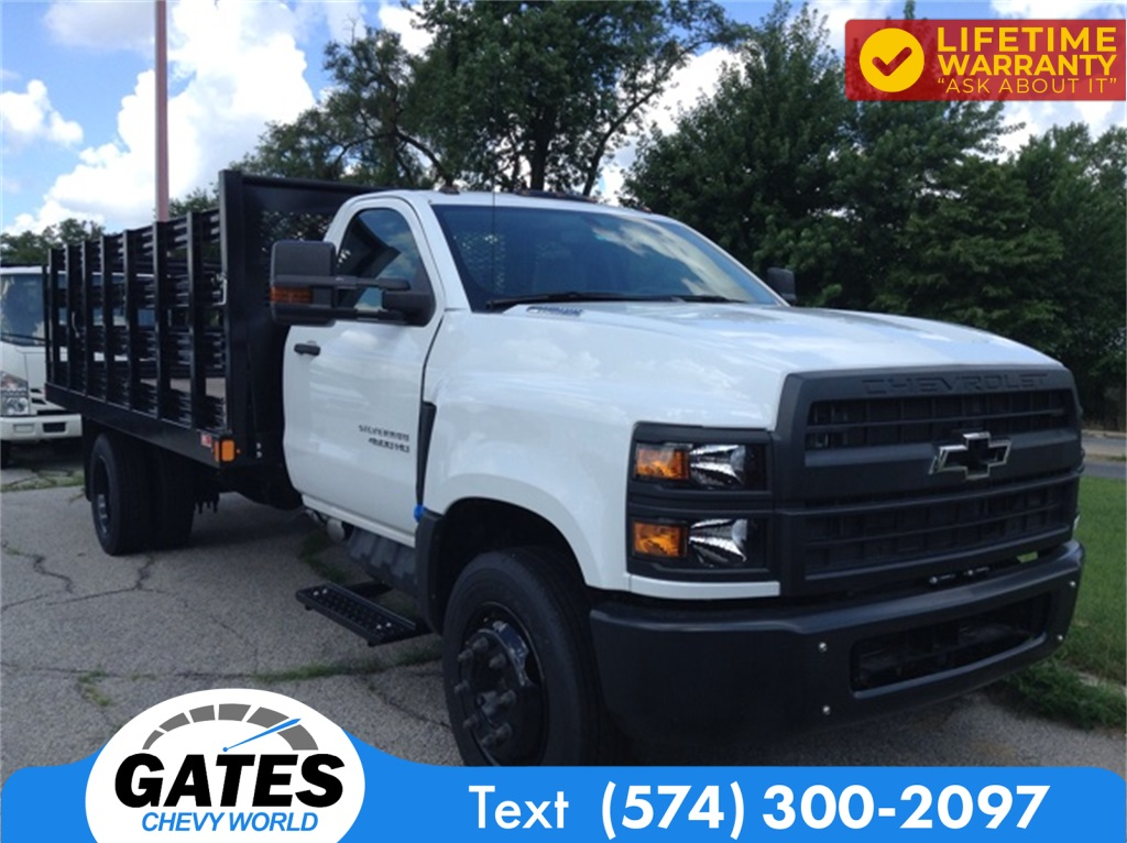 2019 Chevrolet Silverado 4500 Regular Cab DRW 4x2, Monroe Work-A-Hauler II Stake Bed #M5431 - photo 3