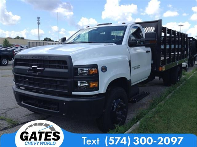 2019 Silverado Medium Duty DRW 4x2,  Monroe Work-A-Hauler II Stake Bed #M5431 - photo 4