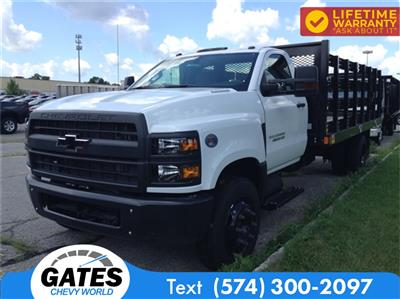 2019 Chevrolet Silverado 4500 Regular Cab DRW 4x2, Monroe Work-A-Hauler II Stake Bed #M5431 - photo 1