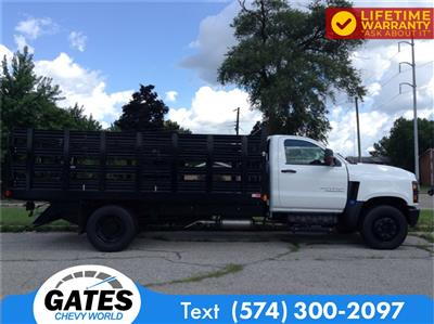 2019 Chevrolet Silverado 4500 Regular Cab DRW 4x2, Monroe Work-A-Hauler II Stake Bed #M5431 - photo 5