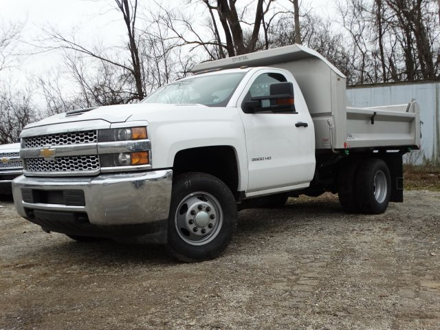 2019 Silverado 3500 Regular Cab DRW 4x4,  Crysteel S-Tipper Dump Body #66260 - photo 1