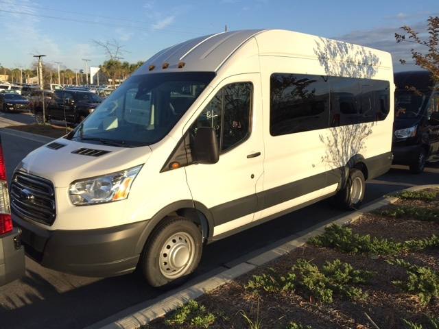 2017 Transit 350 HD High Roof DRW, Passenger Wagon #HKB52829 - photo 4