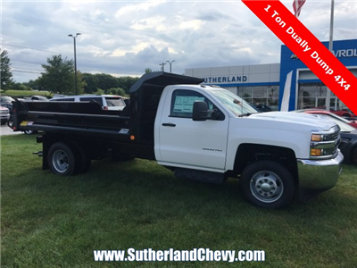 2018 Silverado 3500 Regular Cab DRW 4x4, Dump Body #214693-18 - photo 3