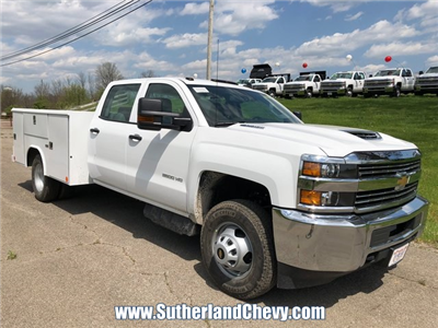 2018 Silverado 3500 Crew Cab DRW 4x4, Service Body #246354-18 - photo 4