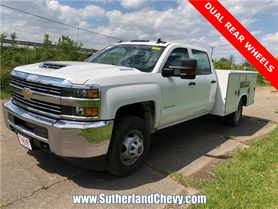 2018 Silverado 3500 Crew Cab DRW 4x4, Service Body #246354-18 - photo 1