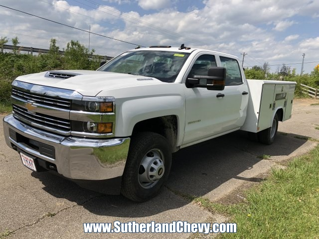 2018 Silverado 3500 Crew Cab DRW 4x4,  Reading Classic II Steel Service Body #246884-18 - photo 1