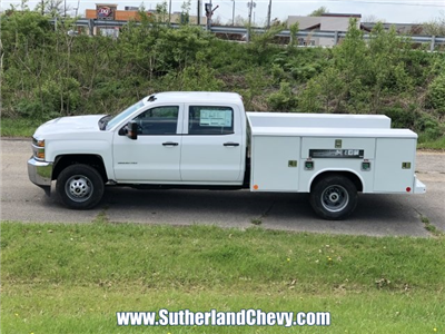 2018 Silverado 3500 Crew Cab DRW 4x4,  Reading Classic II Steel Service Body #246884-18 - photo 2