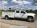 2018 Silverado 3500 Crew Cab DRW 4x4,  Reading Classic II Steel Service Body #246884-18 - photo 3