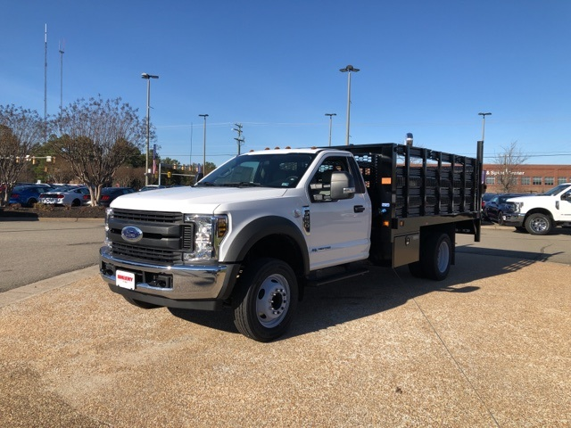 2019 Ford F-550 Regular Cab DRW 4x2, Knapheide Value-Master X Stake Bed #NA17660 - photo 4