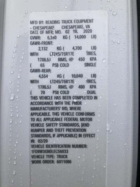 2020 F-350 Crew Cab DRW 4x2, Reading SL Service Body #NC56033 - photo 18