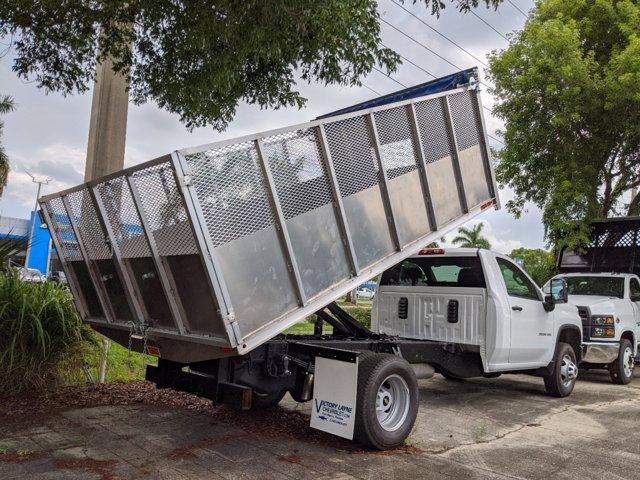 2020 Chevrolet Silverado 3500 Regular Cab DRW 4x4, Action Fabrication Landscape Dump #S0166 - photo 1