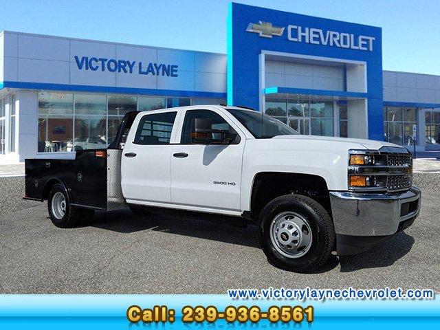 Chevy Dealer Fort Myers >> 2019 Silverado 3500 Crew Cab Drw 4x2 Cm Truck Beds Tm Deluxe Platform Body Stock S9171