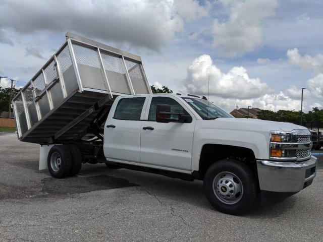2019 Silverado 3500 Crew Cab DRW 4x2, Action Fabrication Aluminum Landscape Dump #S9332 - photo 5