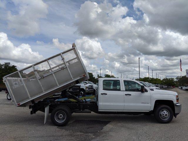 2019 Silverado 3500 Crew Cab DRW 4x2, Action Fabrication Aluminum Landscape Dump #S9332 - photo 6