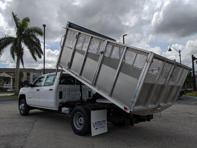 2019 Silverado 3500 Crew Cab DRW 4x2, Action Fabrication Aluminum Landscape Dump #S9332 - photo 8