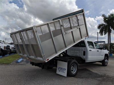2019 Silverado 3500 Crew Cab DRW 4x2, Action Fabrication Aluminum Landscape Dump #S9332 - photo 2