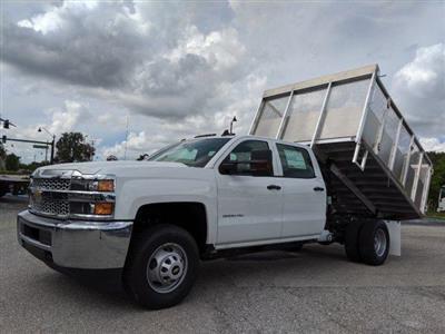 2019 Silverado 3500 Crew Cab DRW 4x2, Action Fabrication Aluminum Landscape Dump #S9332 - photo 9