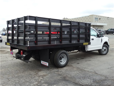 2018 F-350 Regular Cab DRW, Palfinger Heavy Duty Stakebeds Stake Bed #1838 - photo 2