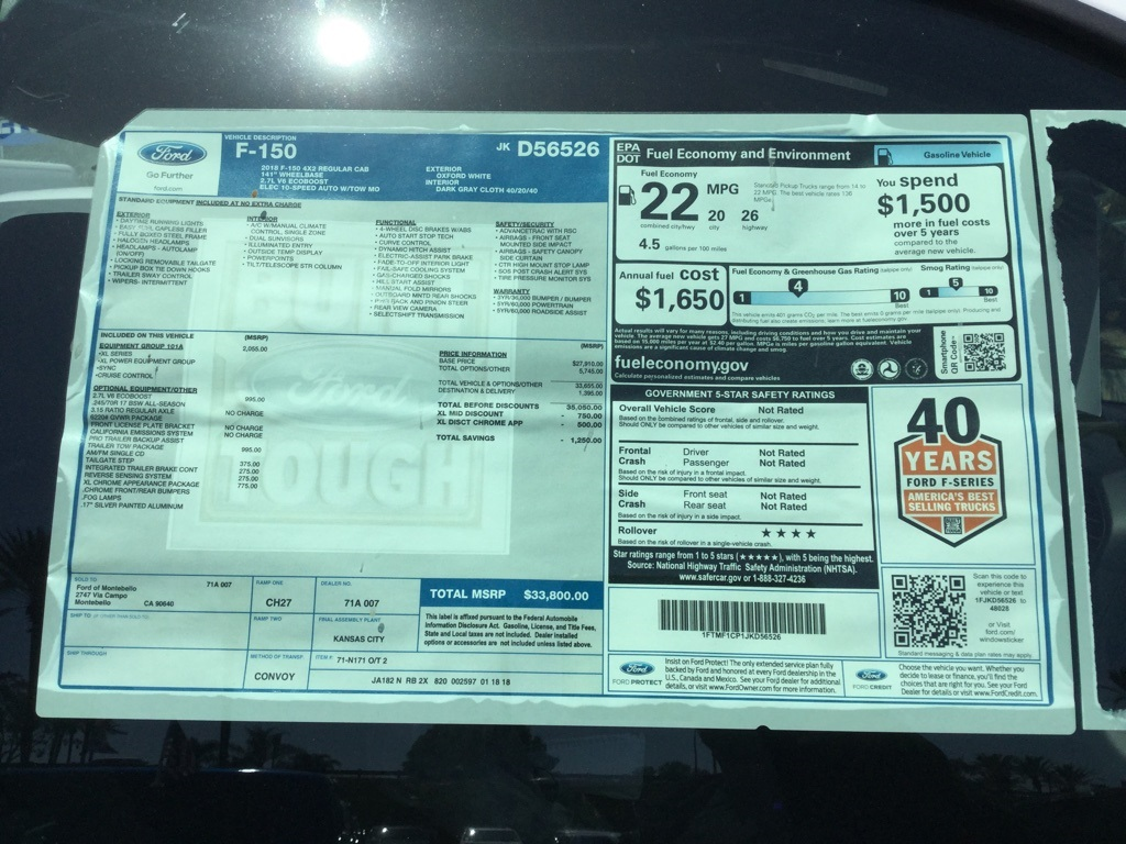 2018 F-150 Regular Cab 4x2,  Pickup #181366 - photo 8