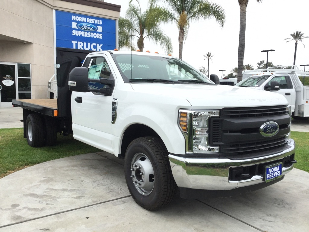 2018 F-350 Regular Cab DRW 4x2,  Harbor Platform Body #181427 - photo 3