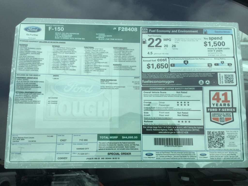 2018 F-150 Super Cab 4x2,  Pickup #181714 - photo 9