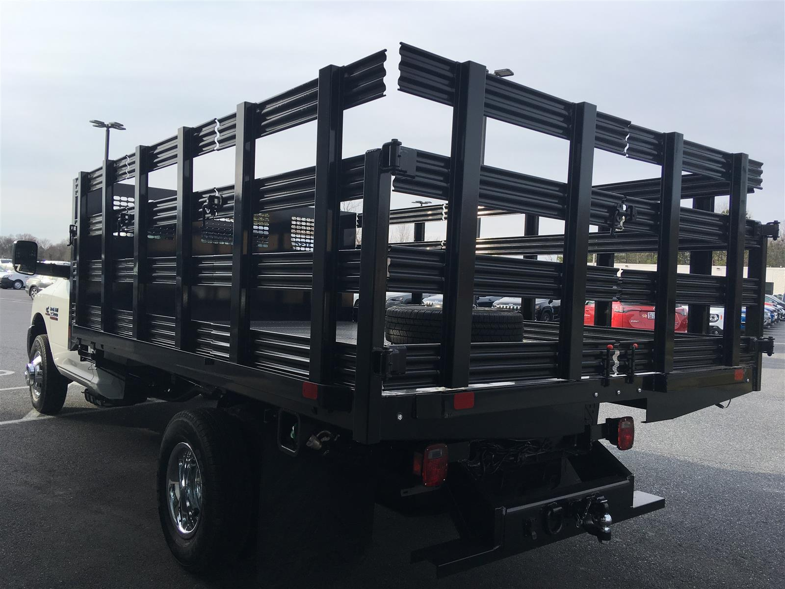 2018 Ram 3500 Regular Cab DRW 4x4, CM Truck Beds Stake Bed #18668 - photo 1