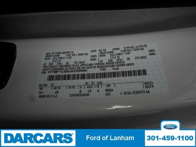 2018 F-150 Regular Cab 4x2,  Pickup #287138 - photo 21
