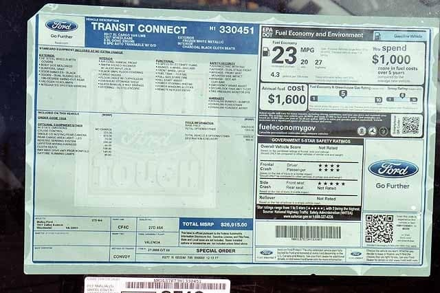2017 Transit Connect,  Empty Cargo Van #T4728 - photo 3