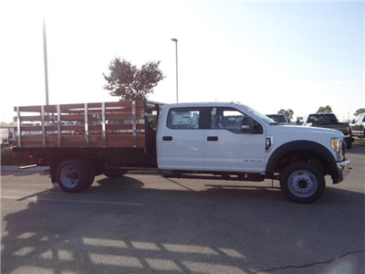 2017 F-550 Crew Cab DRW, Harbor Black Boss Stakebed Stake Bed #FH5876 - photo 5