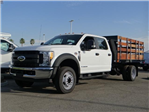 2017 F-550 Crew Cab DRW, Harbor Black Boss Stakebed Stake Bed #FH5876 - photo 1