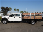 2017 F-550 Crew Cab DRW, Harbor Black Boss Stakebed Stake Bed #FH5876 - photo 3