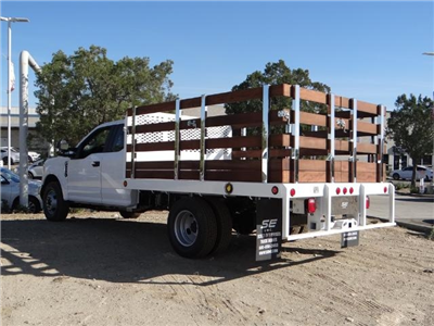 2017 F-350 Super Cab DRW,  Scelzi Western Flatbed Stake Bed #FH6303 - photo 2