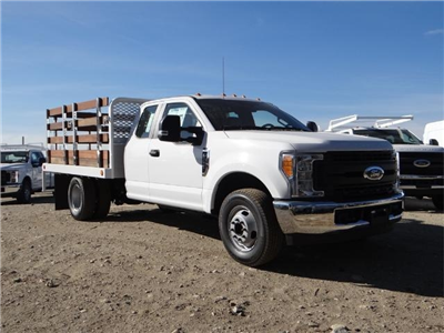 2017 F-350 Super Cab DRW,  Scelzi Western Flatbed Stake Bed #FH6303 - photo 6